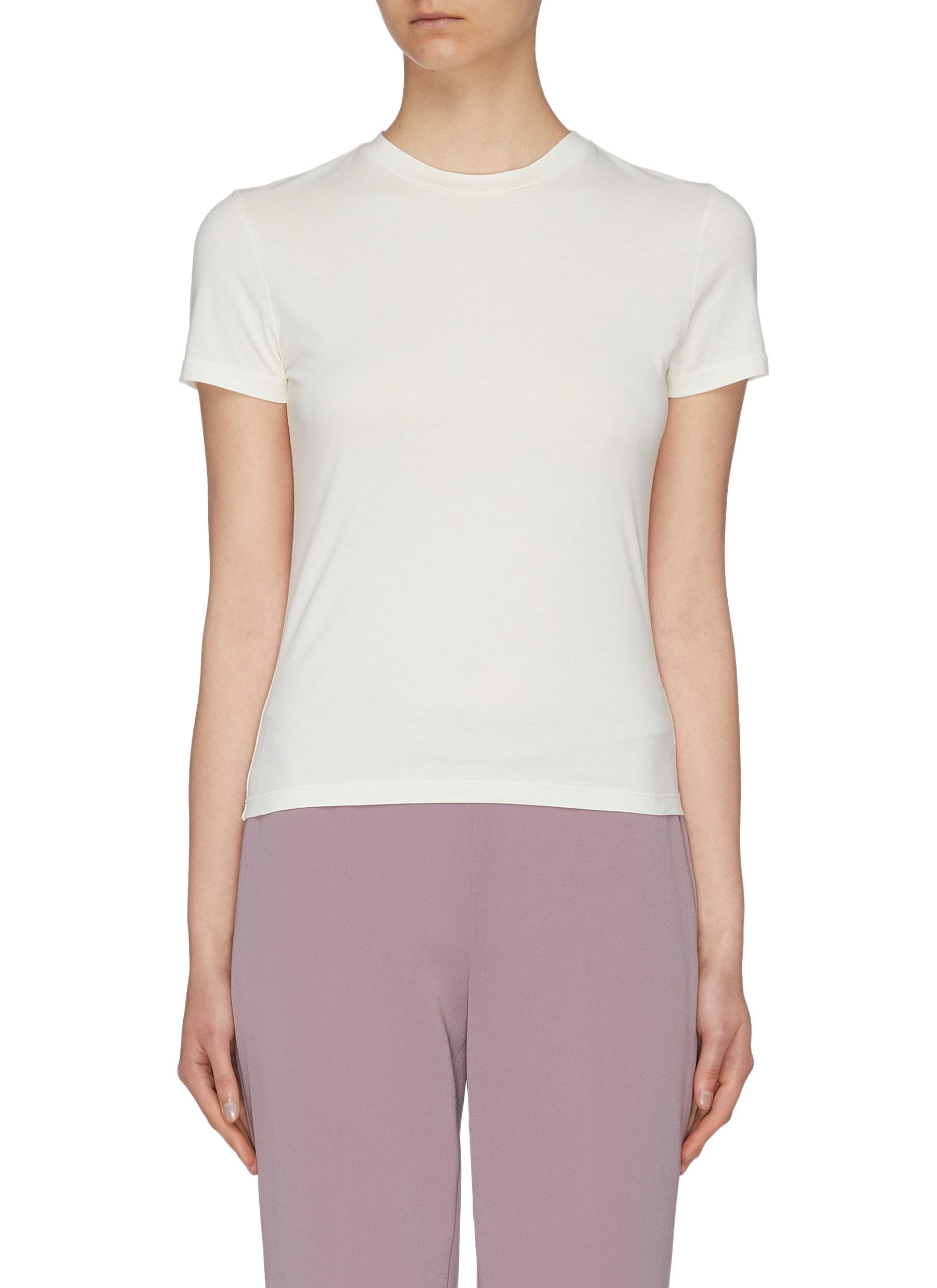 Tiny slim fit Pima cotton T-shirt by Theory