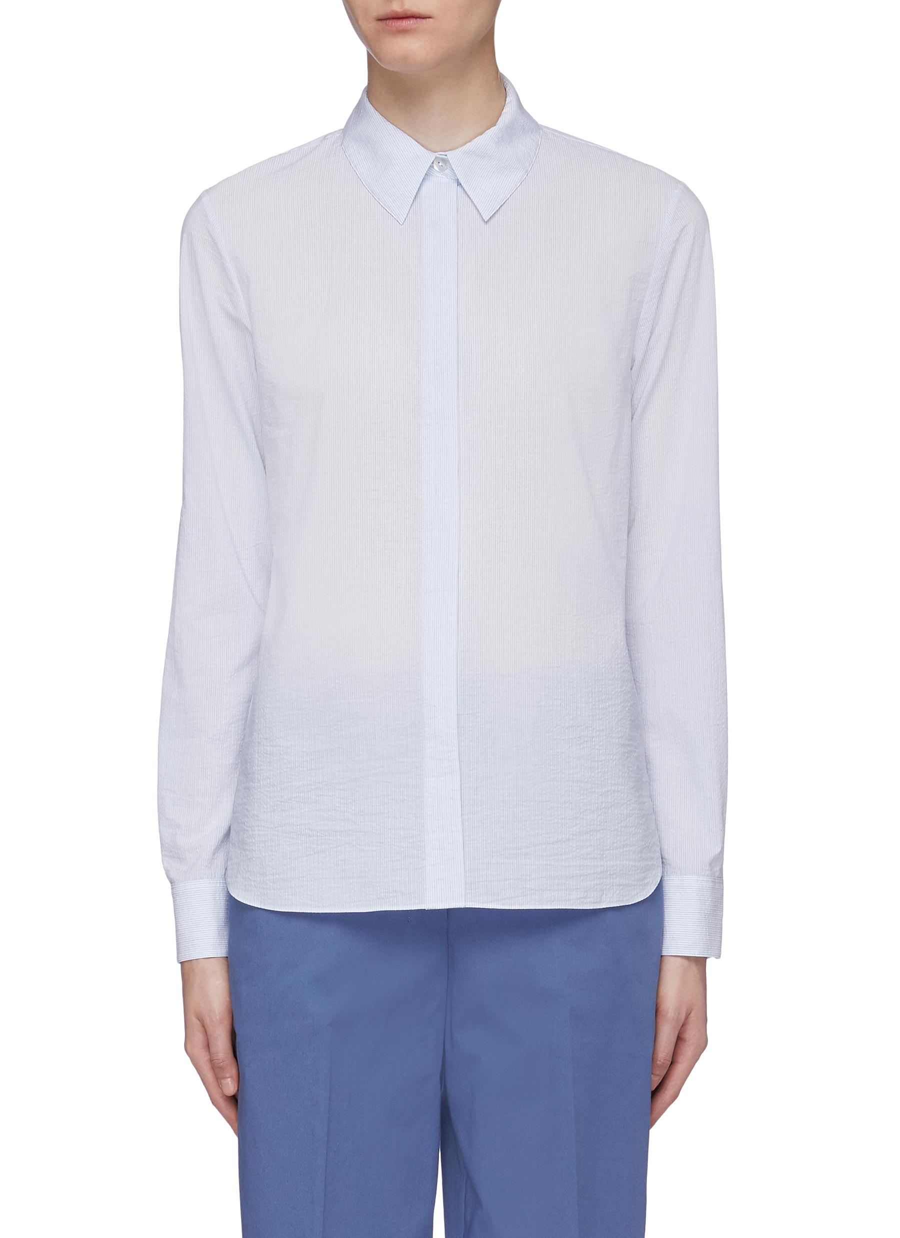 Classic stripe woven shirt by Theory