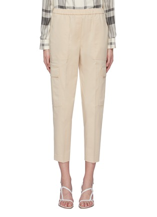 Main View - Click To Enlarge - THEORY - 'Easy' cropped cargo jogging pants