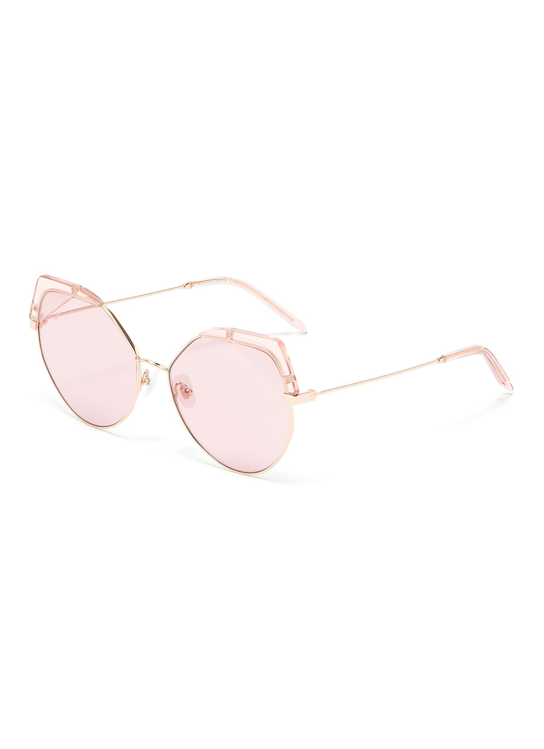 1efd6b7ae4 For Art s Sake.  Fruity  acetate corner metal cat eye sunglasses