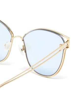 Detail View - Click To Enlarge - FOR ART'S SAKE - 'Kew' mirror metal cat eye sunglasses