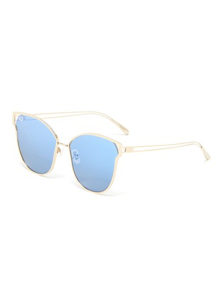 Main View - Click To Enlarge - FOR ART'S SAKE - 'Kew' mirror metal cat eye sunglasses