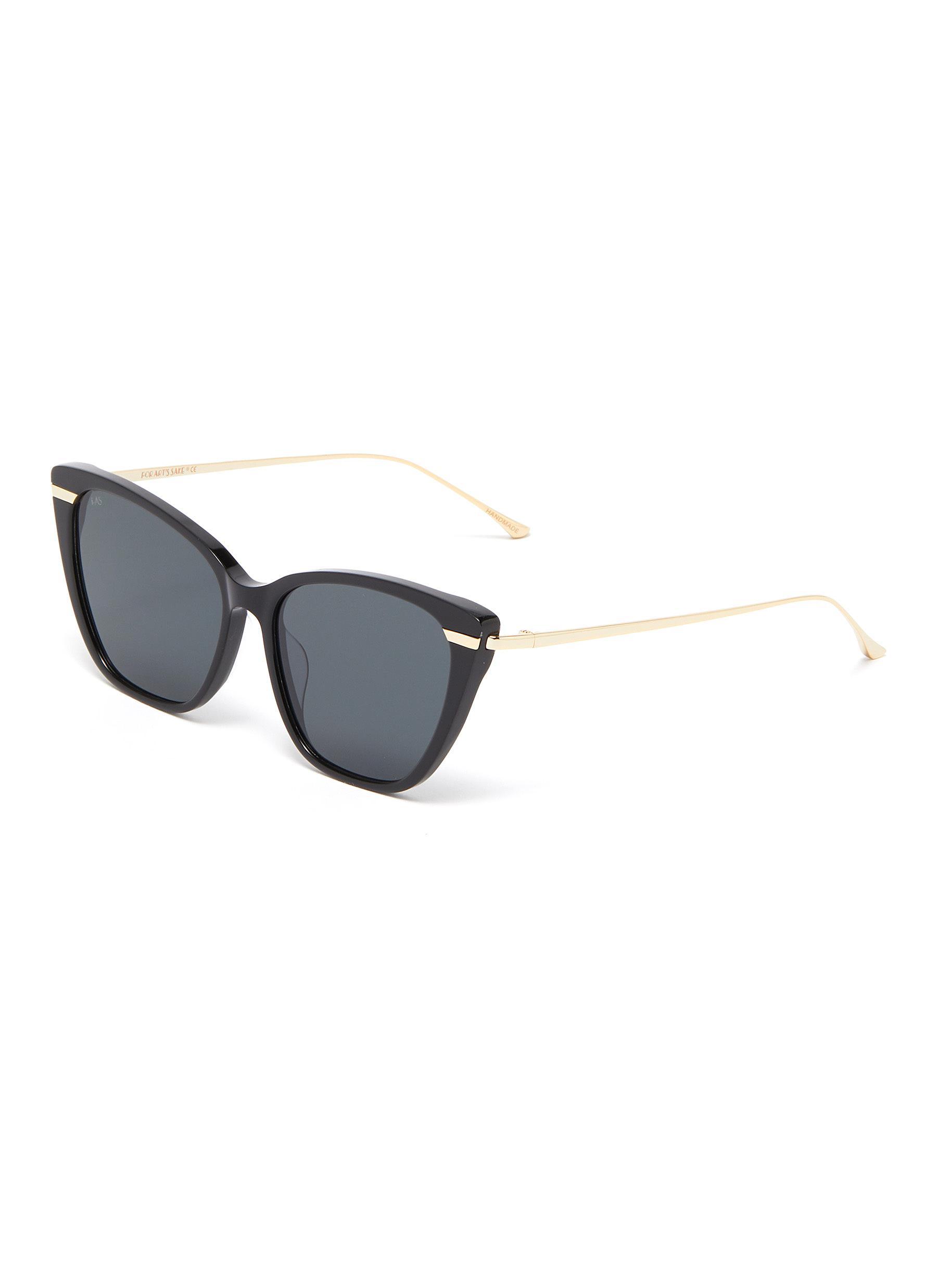 56c10e5524 For Art s Sake.  French Kiss  acetate front metal cat eye sunglasses
