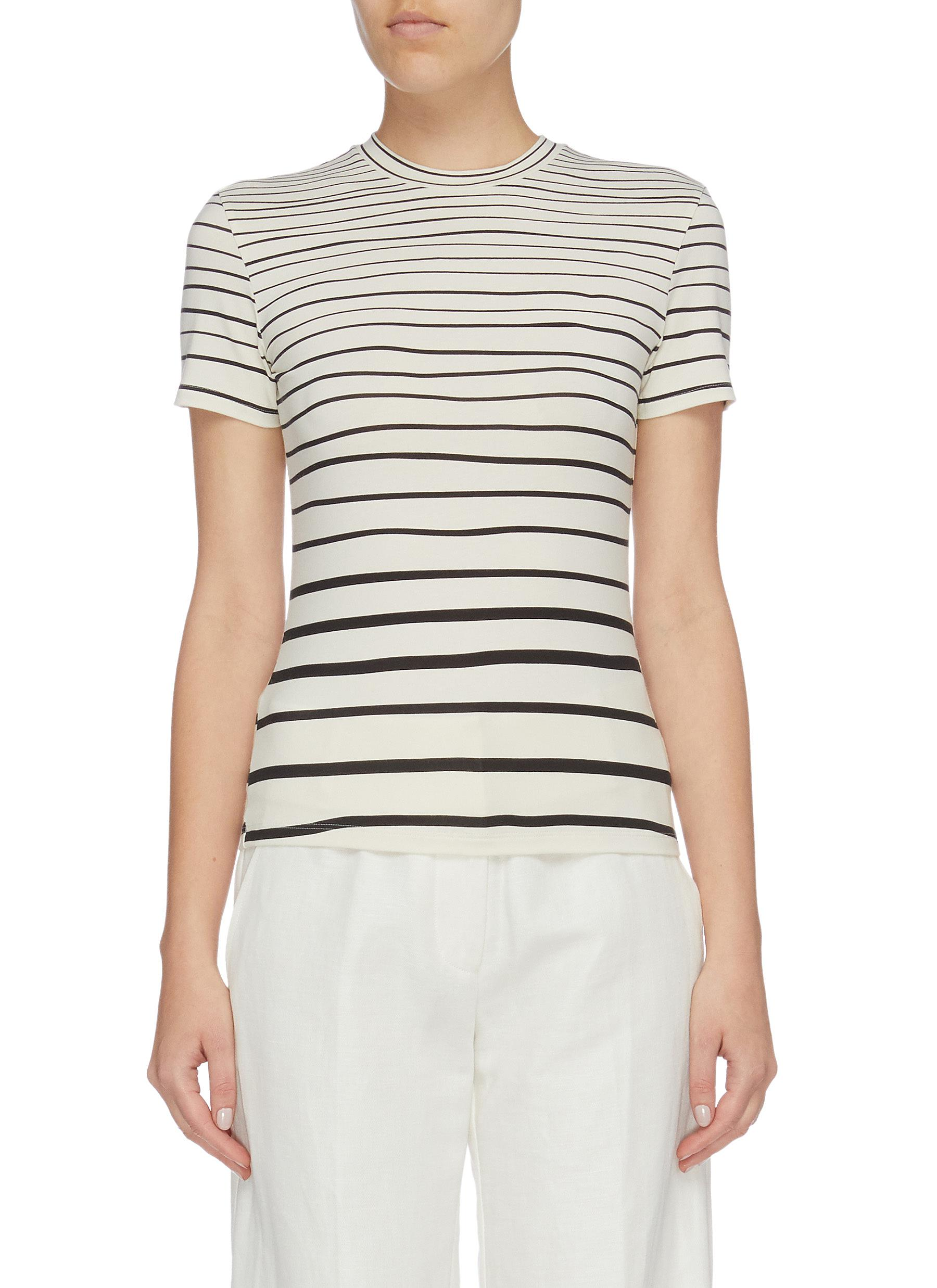 Tiny variegated stripe T-shirt by Theory