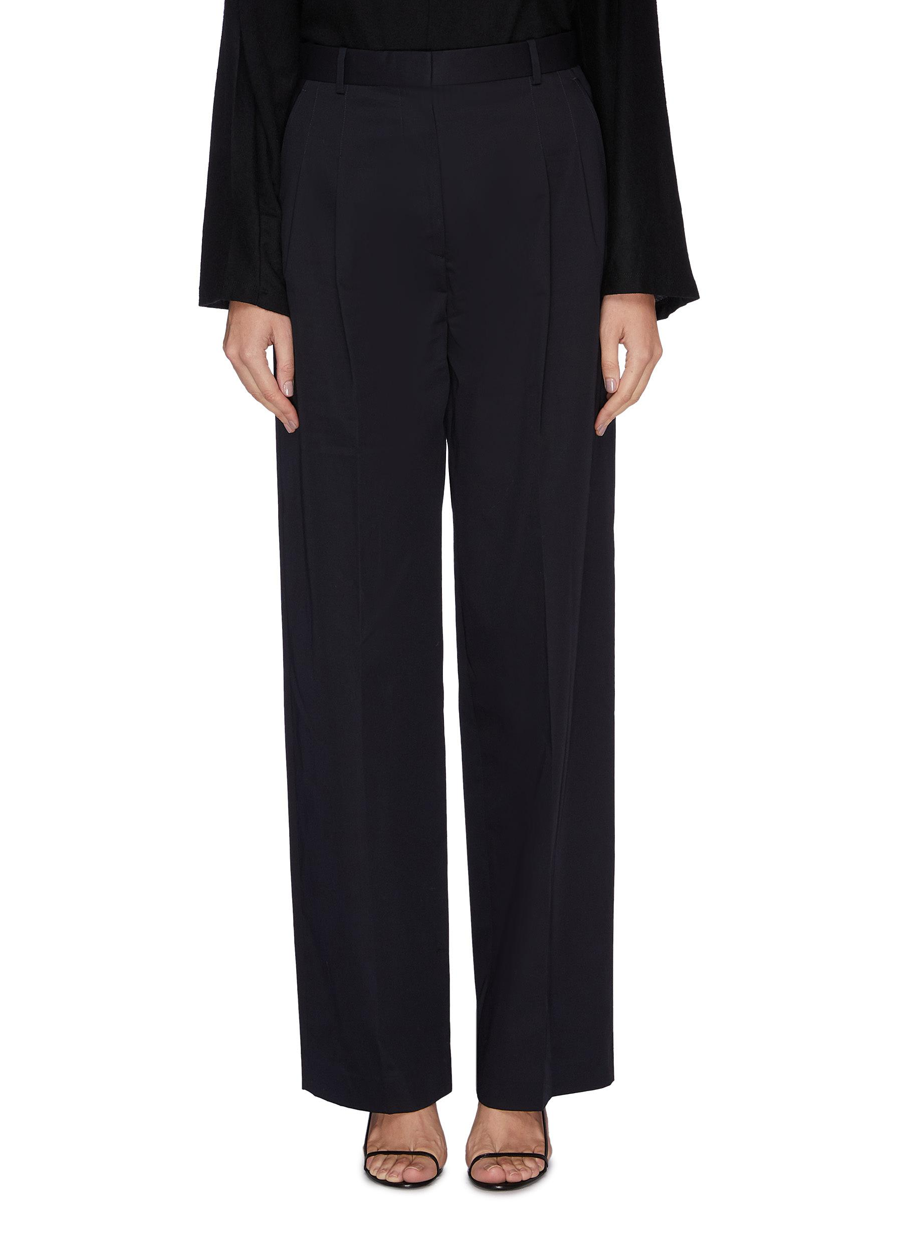 Moi pleated wide leg pants by The Row