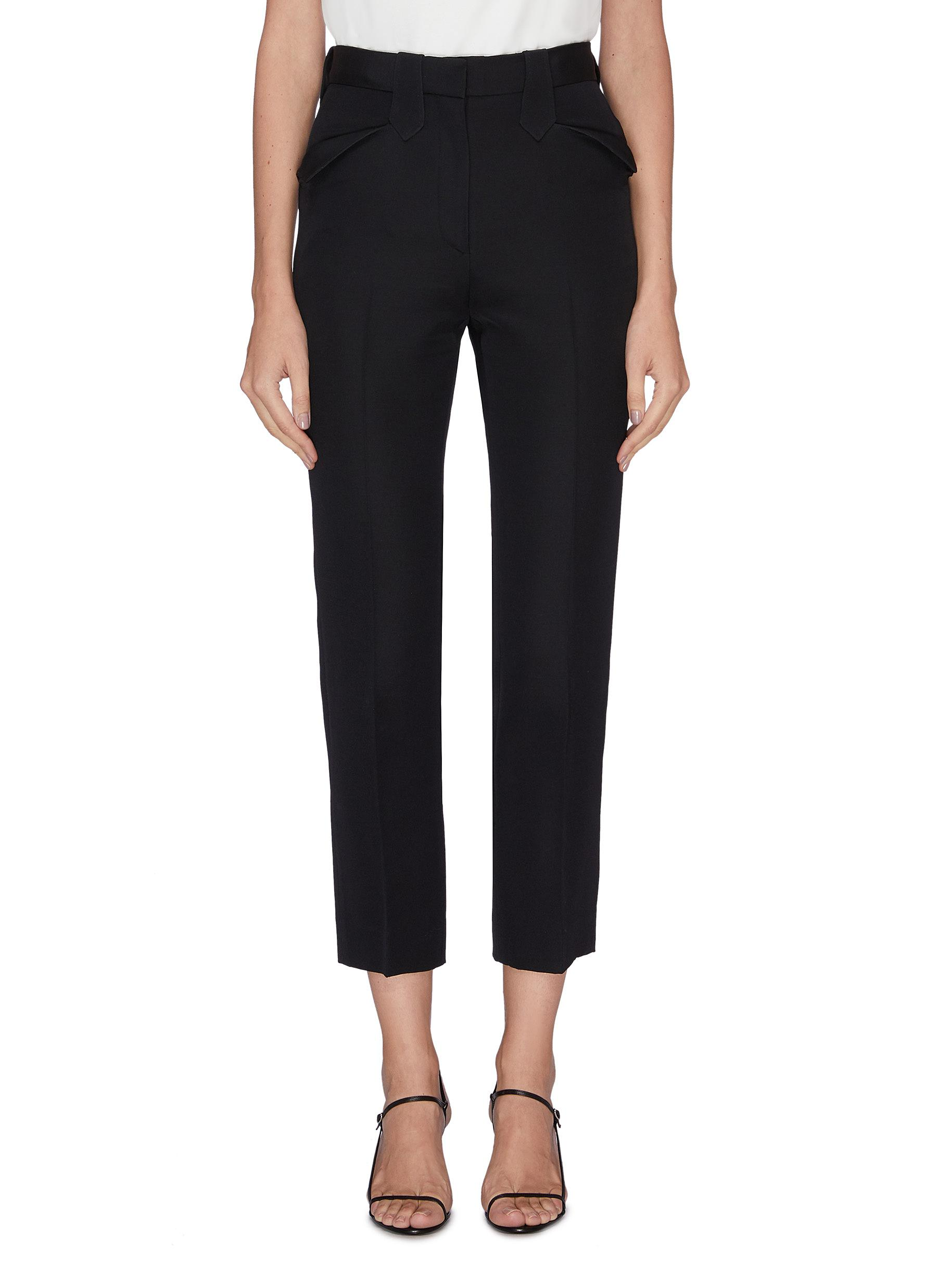 Ben peak pocket cropped suiting pants by The Row