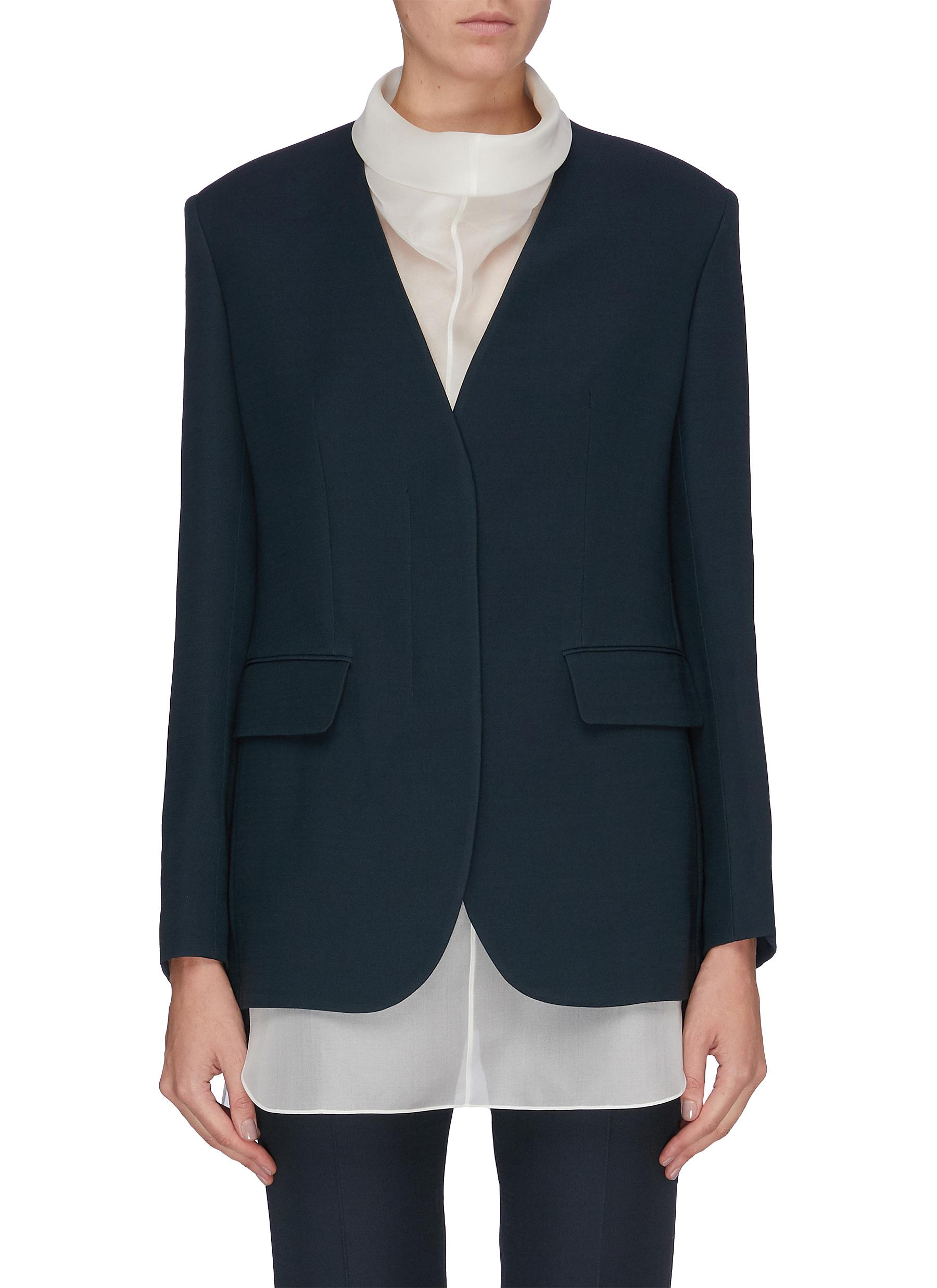 Murray single-breasted wool silk blend blazer by The Row