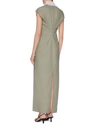 Back View - Click To Enlarge - THE ROW - 'Luna' embroidered neck twist back gown
