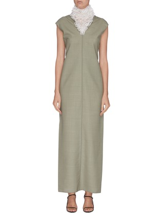 Main View - Click To Enlarge - THE ROW - 'Luna' embroidered neck twist back gown