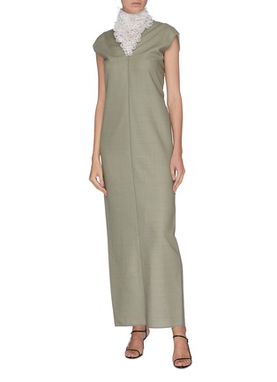 Figure View - Click To Enlarge - THE ROW - 'Luna' embroidered neck twist back gown