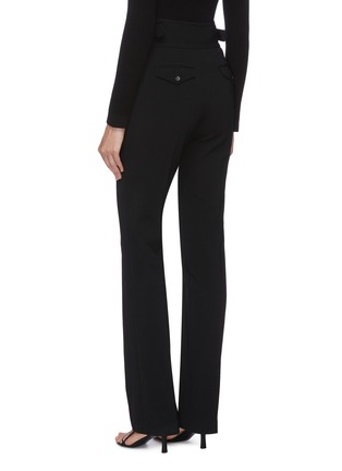 Back View - Click To Enlarge - THE ROW - 'Miguel' buckle waist straight leg pants