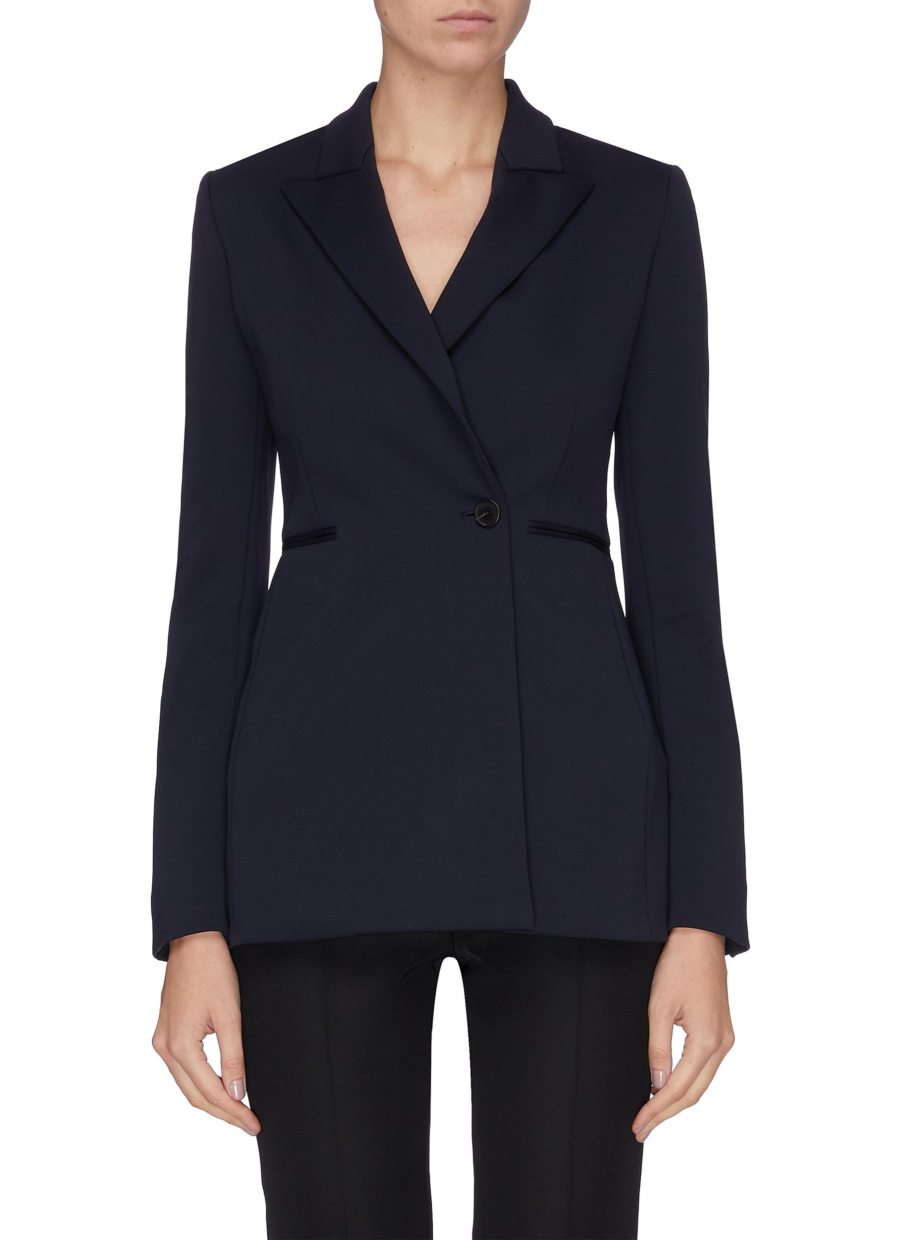 Koja slanted placket besom pocket blazer by The Row