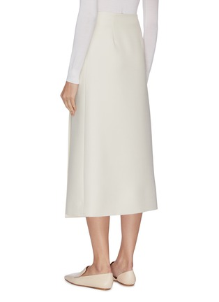 Back View - Click To Enlarge - THE ROW - 'Saio' wool silk blend midi wrap skirt
