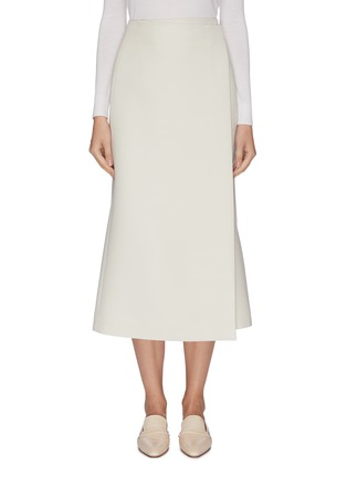 Main View - Click To Enlarge - THE ROW - 'Saio' wool silk blend midi wrap skirt