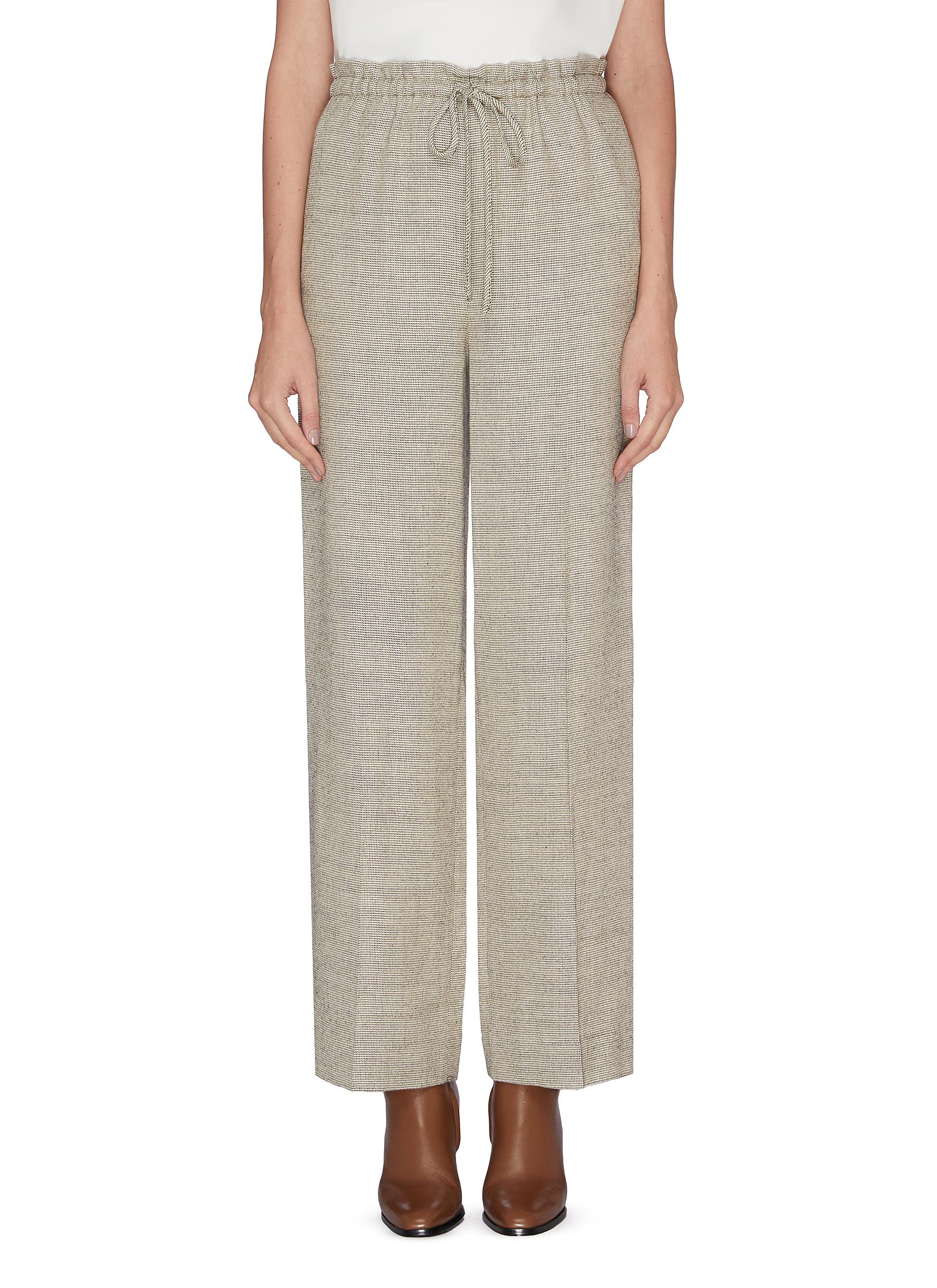 JR wool silk blend drawstring pants by The Row