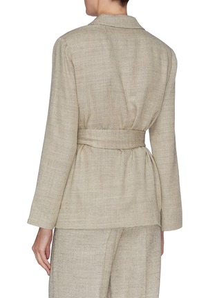 Back View - Click To Enlarge - THE ROW - 'Mel' wool silk blend waist tie blazer