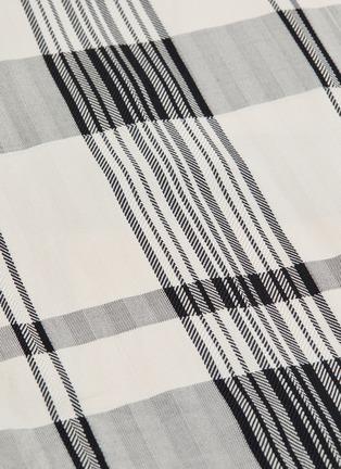 - THEORY - 'Classic' tartan plaid oversized herringbone shirt