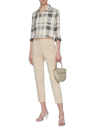 Figure View - Click To Enlarge - THEORY - 'Classic' tartan plaid oversized herringbone shirt