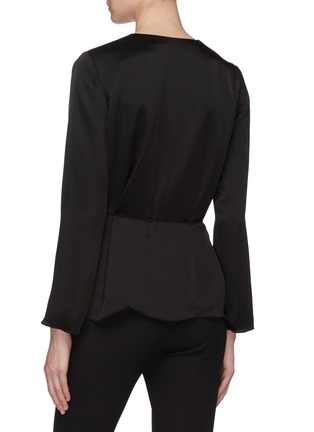 Back View - Click To Enlarge - THEORY - Side tie wrap top