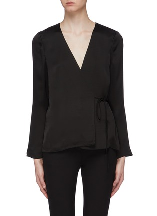 Main View - Click To Enlarge - THEORY - Side tie wrap top