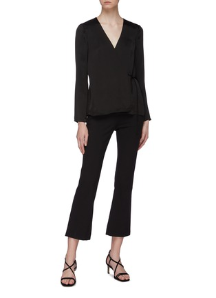 Figure View - Click To Enlarge - THEORY - Side tie wrap top