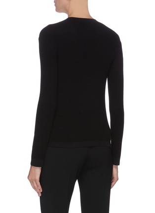 Back View - Click To Enlarge - THE ROW - 'Cass' cotton silk blend crew neck top