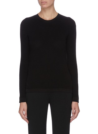 Main View - Click To Enlarge - THE ROW - 'Cass' cotton silk blend crew neck top