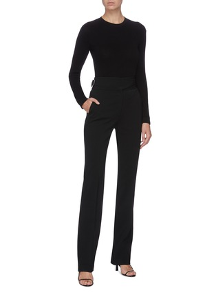 Figure View - Click To Enlarge - THE ROW - 'Cass' cotton silk blend crew neck top