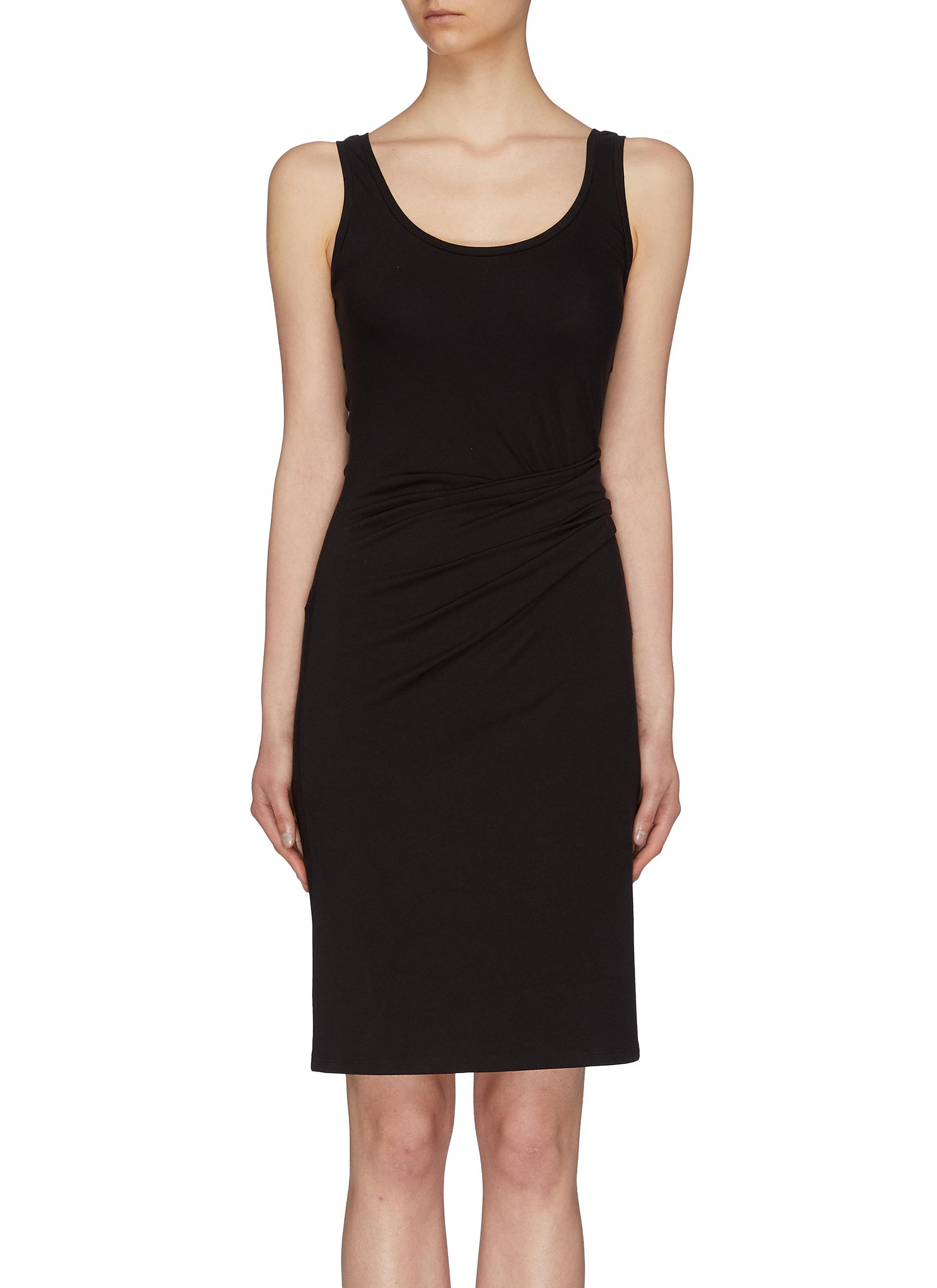 Gathered waist jersey tank dress by Theory