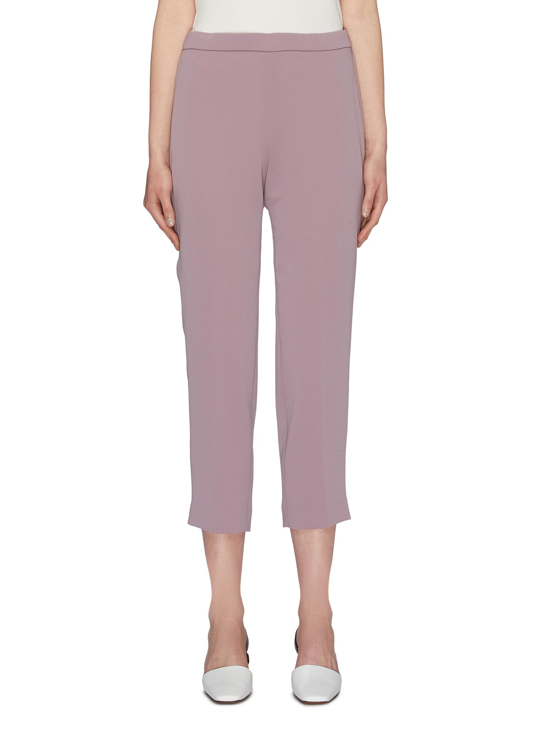 Basic Pull On slim fit crepe pants by Theory