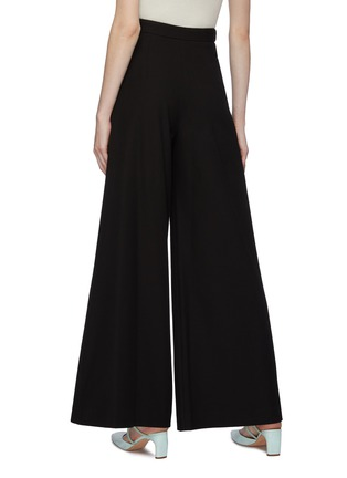 Back View - Click To Enlarge - ROSETTA GETTY - Grommet waist tab twill wide leg pants