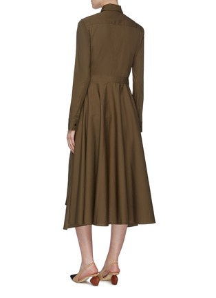 Back View - Click To Enlarge - ROSETTA GETTY - Tie apron wrap panel shirt dress
