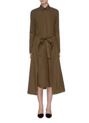 Main View - Click To Enlarge - ROSETTA GETTY - Tie apron wrap panel shirt dress