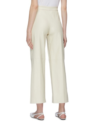 Back View - Click To Enlarge - ROSETTA GETTY - Leather wide leg pants