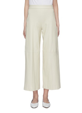 Main View - Click To Enlarge - ROSETTA GETTY - Leather wide leg pants