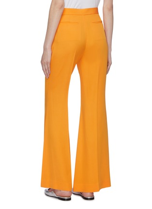 Back View - Click To Enlarge - ROSETTA GETTY - Pleated crepe flared pants