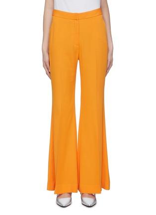 Main View - Click To Enlarge - ROSETTA GETTY - Pleated crepe flared pants