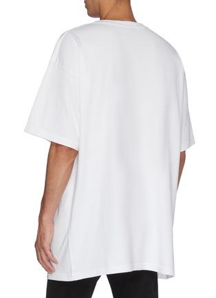Back View - Click To Enlarge - BALENCIAGA - 'BB' logo print oversized T-shirt