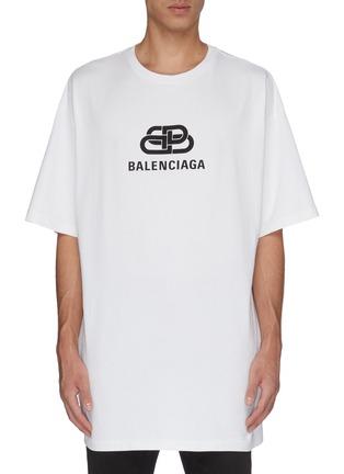 Main View - Click To Enlarge - BALENCIAGA - 'BB' logo print oversized T-shirt