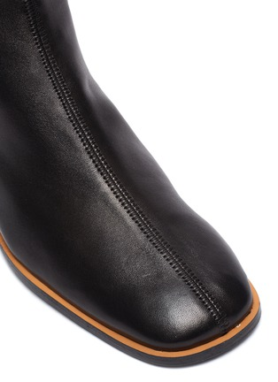 Detail View - Click To Enlarge - ACNE STUDIOS - Triangular heel leather ankle boots