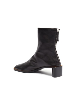 - ACNE STUDIOS - Triangular heel leather ankle boots