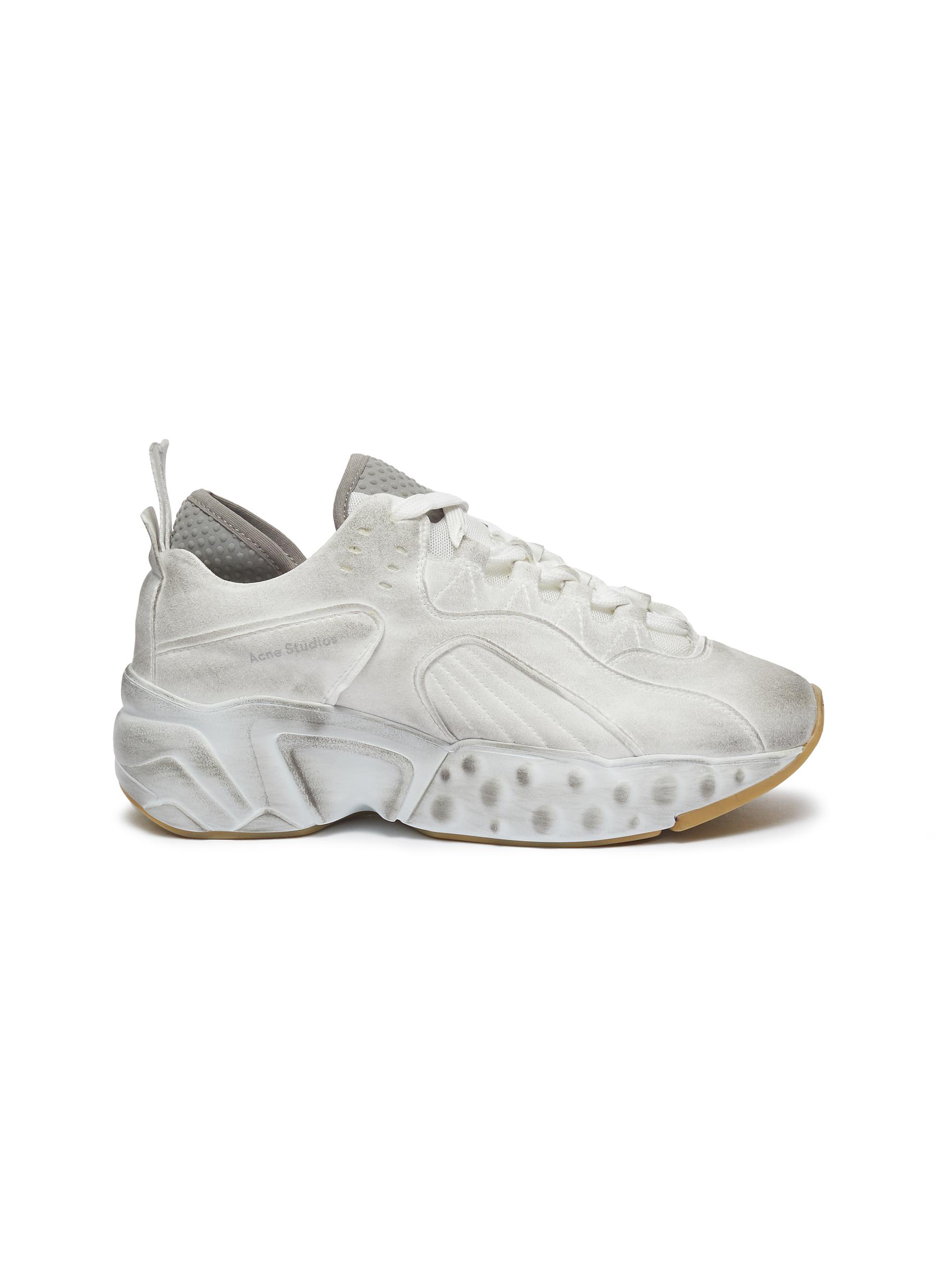 Manhattan Tumbled chunky outsole panelled distressed sneakers by Acne Studios