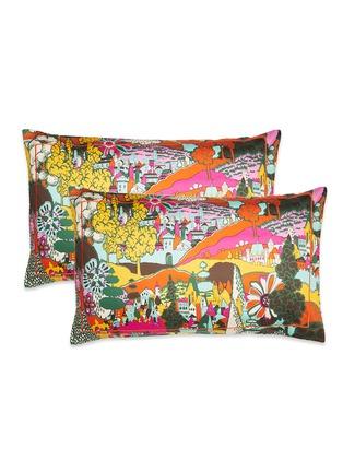 Main View - Click To Enlarge - LA DOUBLEJ - Pillowcase set – Paesaggio Arancio