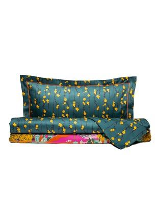 Main View - Click To Enlarge - LA DOUBLEJ - King size duvet set –Pussy Willow/Paesaggio Arancio
