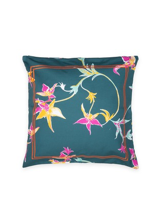 Main View - Click To Enlarge - LA DOUBLEJ - Cushion cover –Orchidee Petrolio