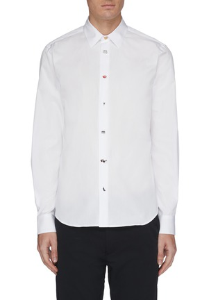 Main View - Click To Enlarge - Paul Smith - Mix graphic button shirt