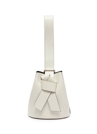 Main View - Click To Enlarge - ACNE STUDIOS - 'Musubi' single knot strap leather backpack