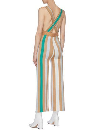 Back View - Click To Enlarge - PH5 - 'Pilar' stripe wide leg jumpsuit