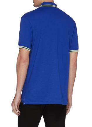 Back View - Click To Enlarge - PS Paul Smith - Zebra appliqué stripe border polo shirt