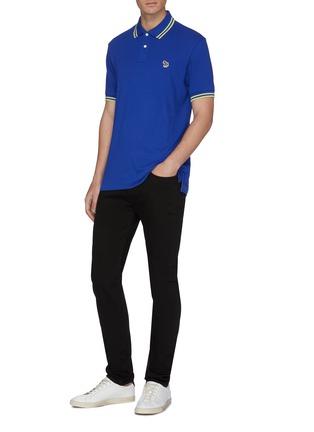 Figure View - Click To Enlarge - PS PAUL SMITH - Zebra appliqué stripe border polo shirt